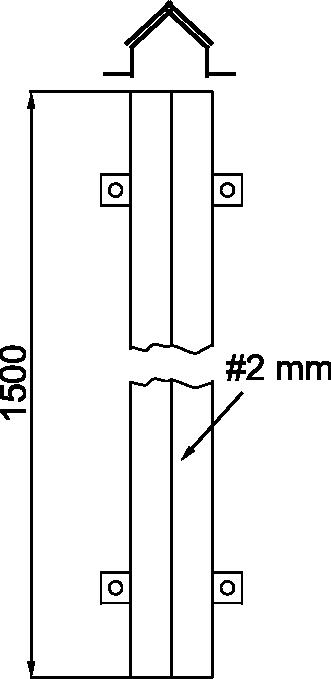ZAŠTITNIK ZEMLJOVODA 45x45x1500 - JUS N.B4.913